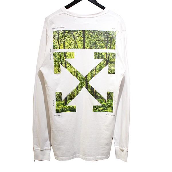 【中古】OFF WHITE19SS 阪急メンズ東京限定 WOODS ARROW L/S TEE ロングTシャツ ホワイト サイズ:M