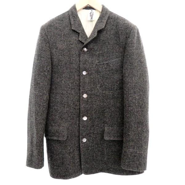 【中古】Bespoke Tailor DMG×GOUCHA×Harris Tweed 5ボタンジャケット グレー サイズ:L【2月24日見直し】