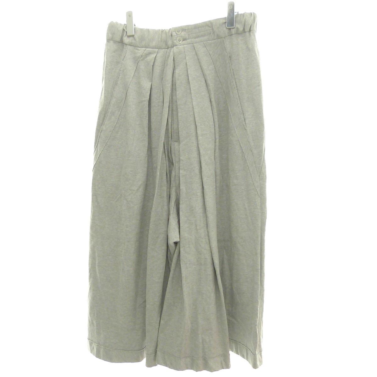 【中古】Ground Y18AW「GY Hakama Type 1 40/C Combed Jersey」袴パンツ グレー サイズ:3 【6月4日見直し】
