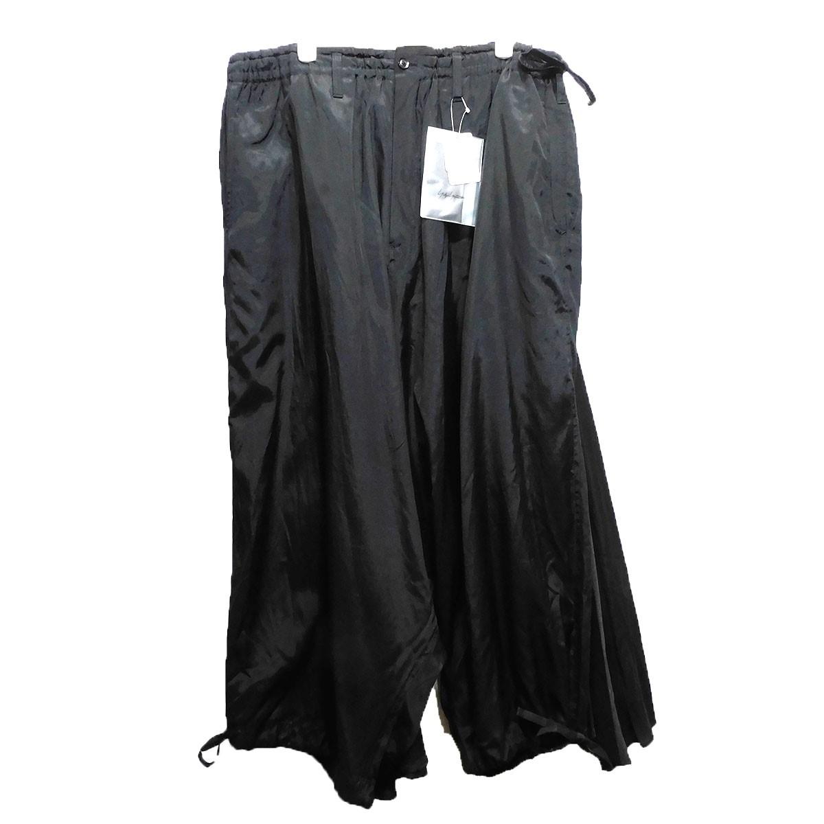 【11月14日 お値段見直しました】【中古】Yohji Yamamoto pour homme19SS 「Rayon Cotton Poplin W-sarrouel KARASU Pants」 ブラック サイズ:5