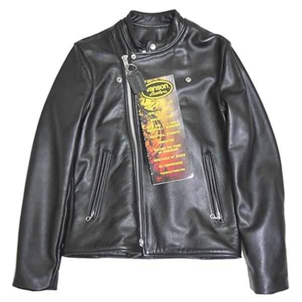 【1月6日 お値段見直しました】【中古】VANSONChopper Minus チョッパー マイナス ライダース レザージャケット ブラック サイズ:38
