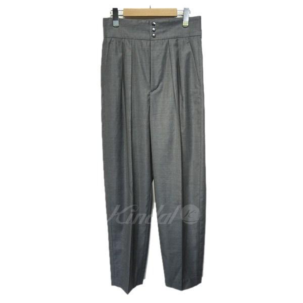 【中古】6(ROKU) BRAUTY&YOUTH 「WOOL CHINZES PANTS」ツータックスラックス グレー サイズ:38 【310819】(ロク ビューティーアンドユース)
