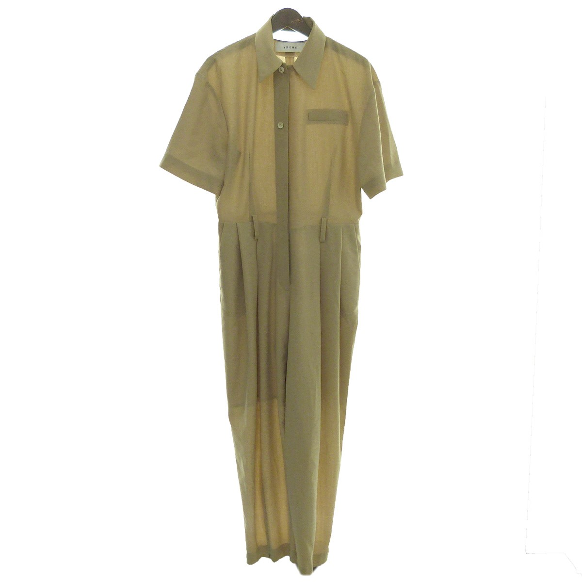 【中古】IRENE19SS「Summer Jump Suit-52」オールインワン ベージュ サイズ:36