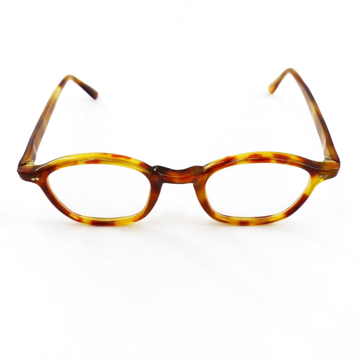 【中古】Lesca LunetierVintage Collection 眼鏡 ブラウン