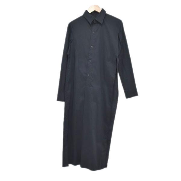 【中古】YOHJI YAMAMOTO19SS サイドオープンロングシャツ FH-D32-011 ブラック サイズ:1