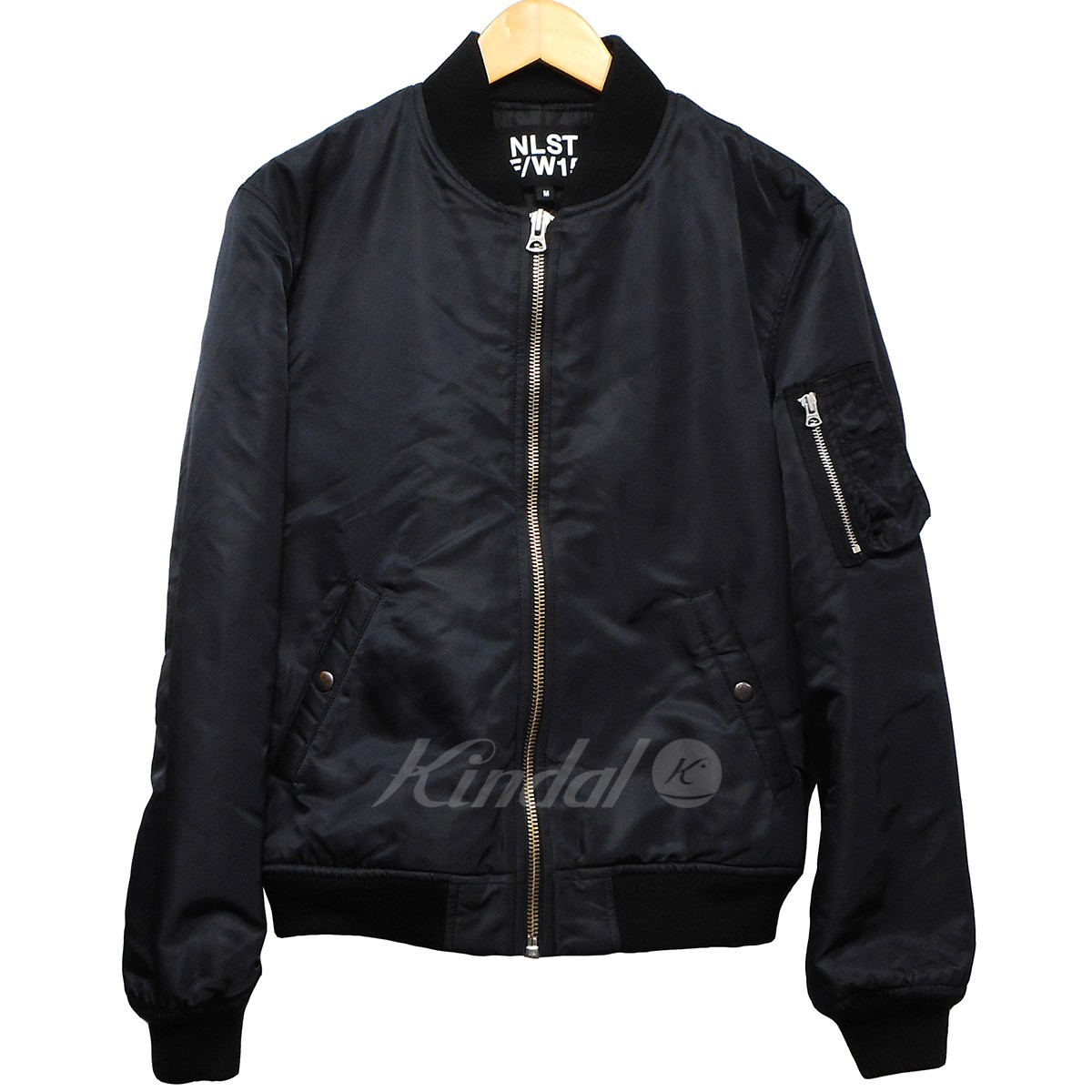 【中古】NLST15AW MA-1フライトジャケット ブラック サイズ:M【1月20日見直し】