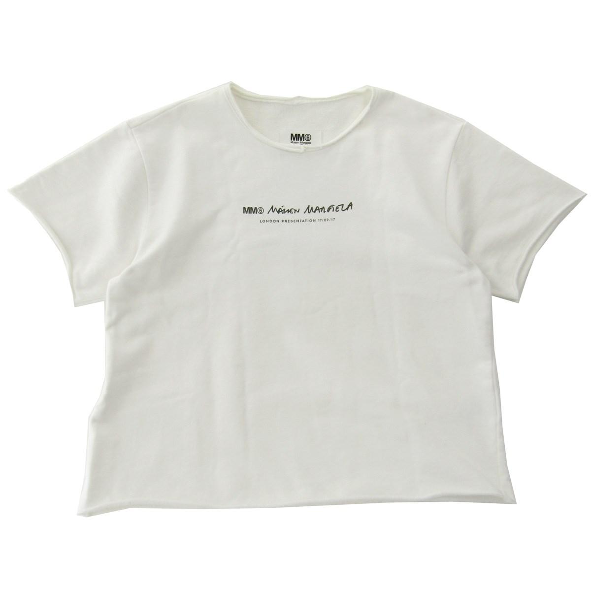 【中古】MM6Sweat Imprime Off White Femme LONDON PRESENTATION ホワイト サイズ:XS