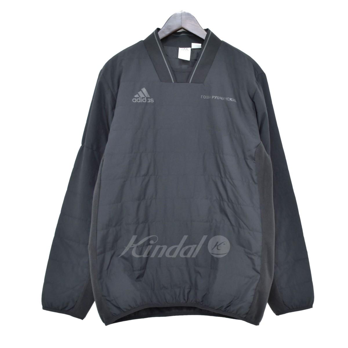 GOSHA RUBCHINSKIY X adidas 17AW WARM SWEATSHIRT fleece reshuffling pullover cut and sew black size: M (go Schalla butyne ski Adidas)
