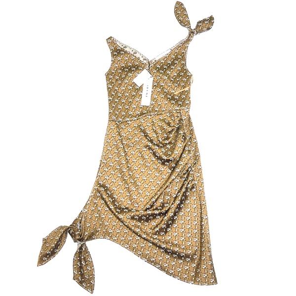 【中古】IRENE 2019SS フラワー ノット ドレス ワンピース ベージュ サイズ:36 【070919】(アイレネ)