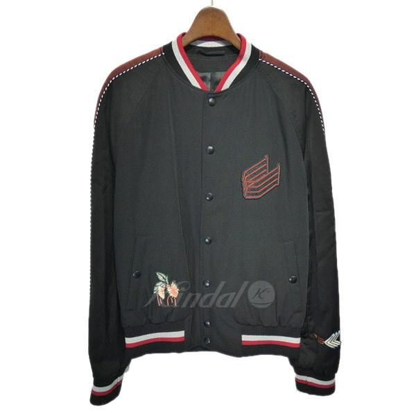 【中古】LANVINボンバージャケット ブラック サイズ:46 【4月16日見直し】
