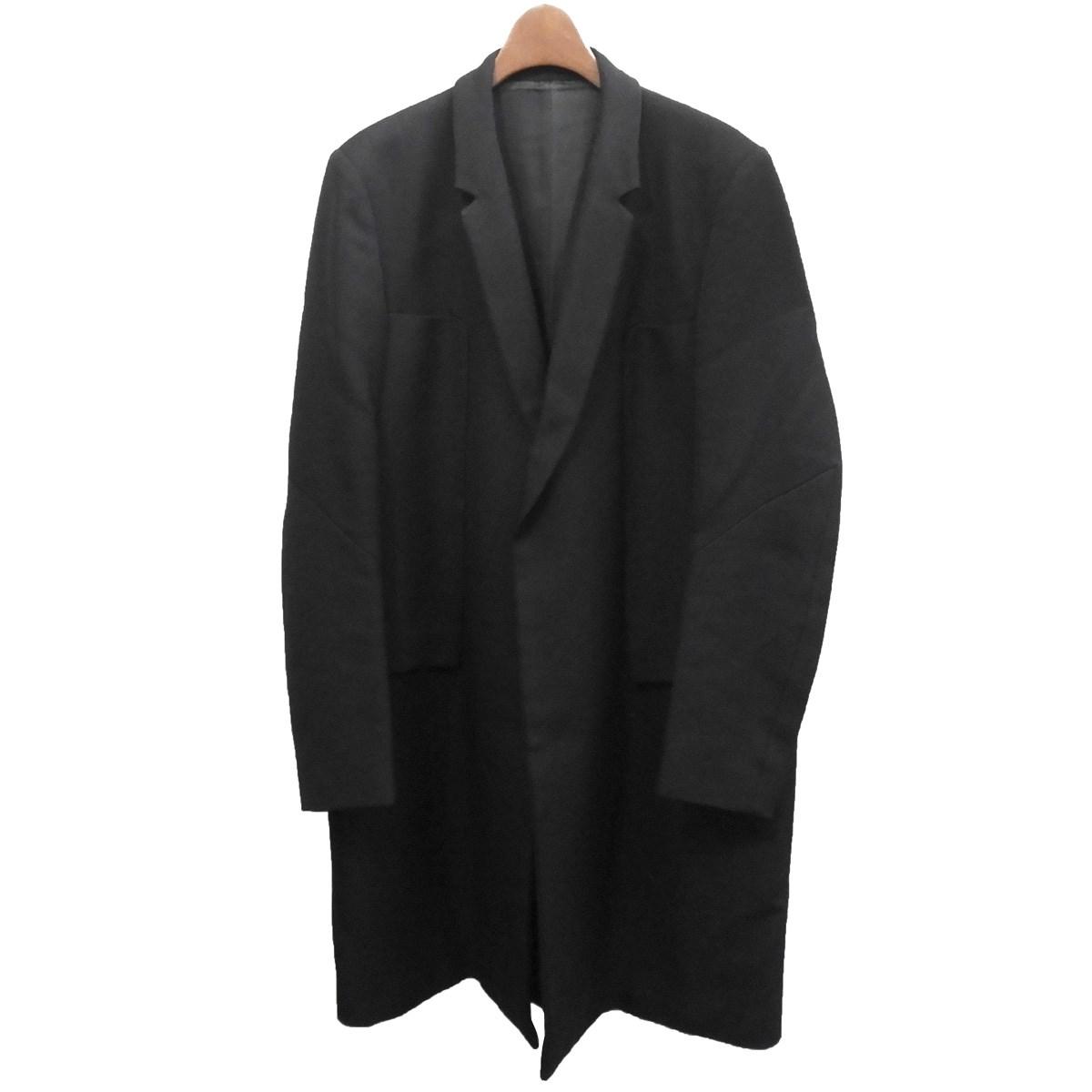 【中古】UNDER COVER ISM2012AW ドビーチェスターコート ブラック サイズ:3【2月6日見直し】