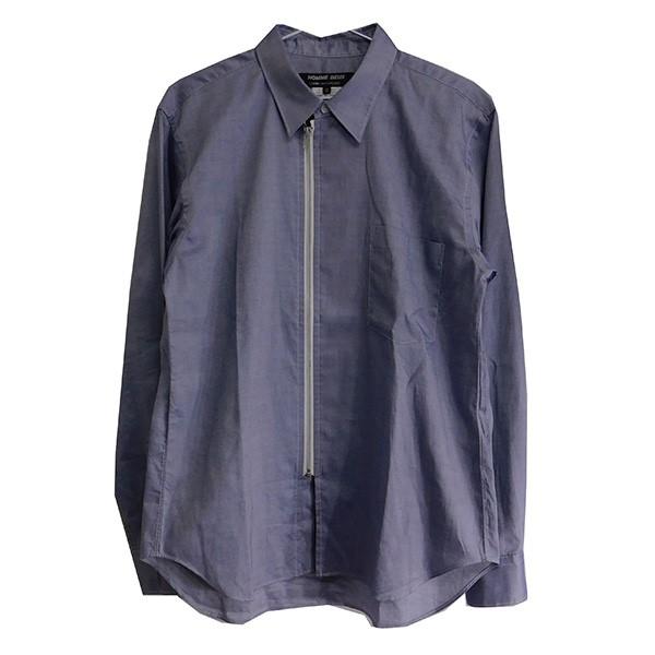 【中古】COMME des GARCONS HOMME DEUX 2019AW ジップシャツ ブルー サイズ:XS 【110919】(コムデギャルソンオムドゥ)