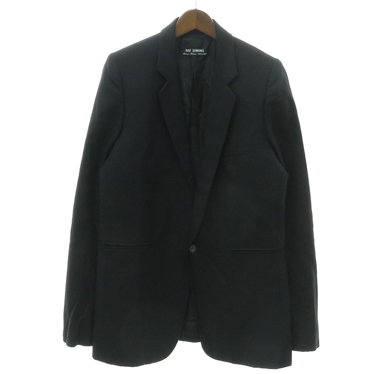 【中古】RAF SIMONS 2000AW テーラードジャケット ブラック サイズ:48 【150919】(ラフシモンズ)