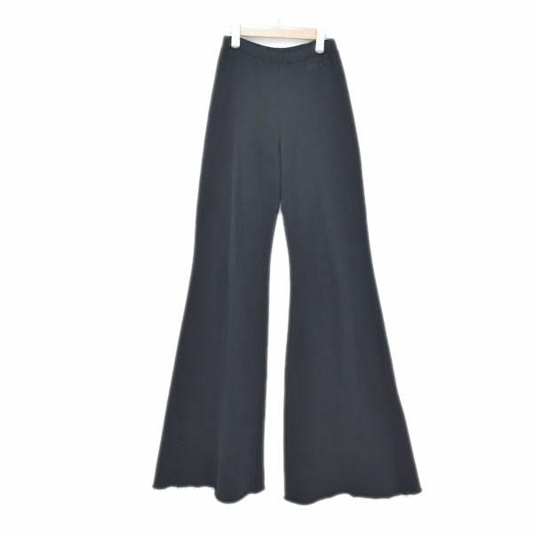 【中古】VETEMENTS19SS Evening Jogging 裾フレアジョギングパンツ ブラック サイズ:XS