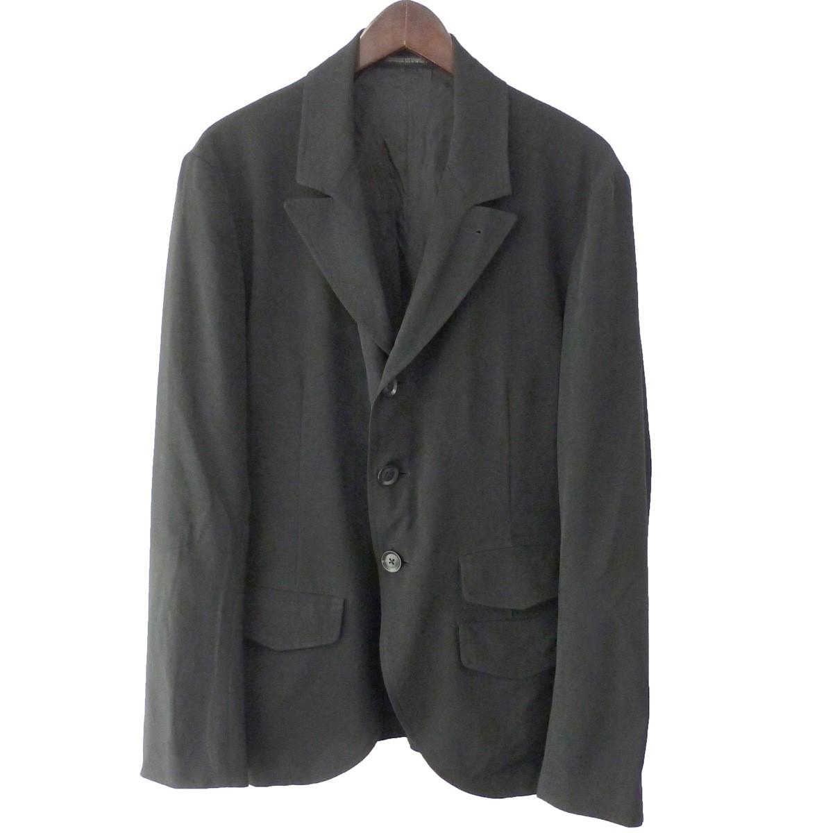 【中古】YOHJI YAMAMOTO pour homme 19SS クレープジャケット ブラック サイズ:2 【210919】(ヨウジヤマモトプールオム)