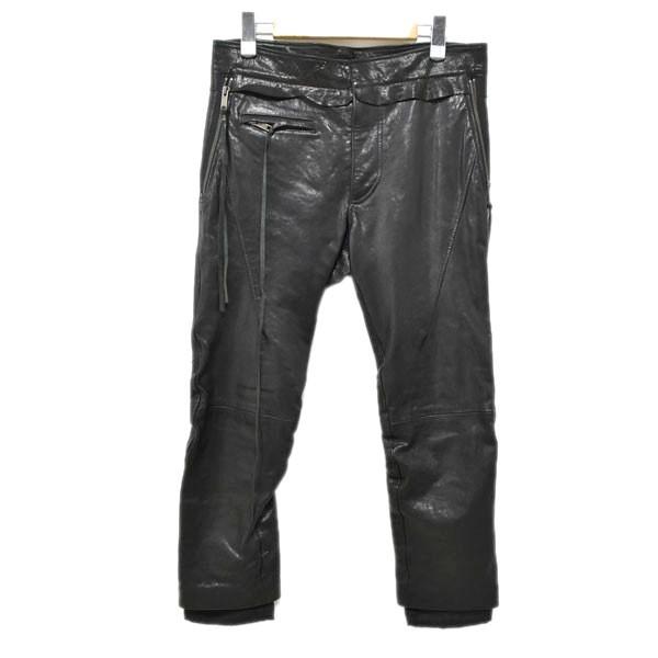【中古】HAIDER ACKERMANN レザーパンツ ブラック サイズ:36 【220919】(ハイダー・アッカーマン)