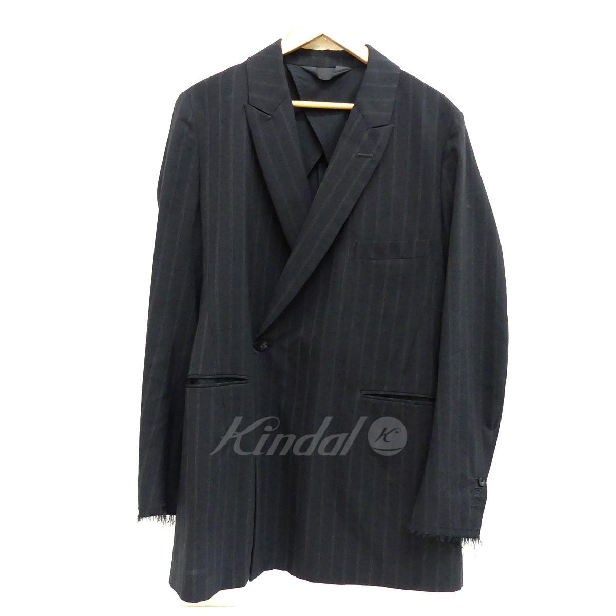 【12月12日 お値段見直しました】【中古】Essay袖ダメージ加工 テーラードジャケット 2016AW ブラック サイズ:S