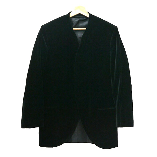 【中古】LOUIS VUITTONベロアジャケット ブラック サイズ:46 【4月6日見直し】