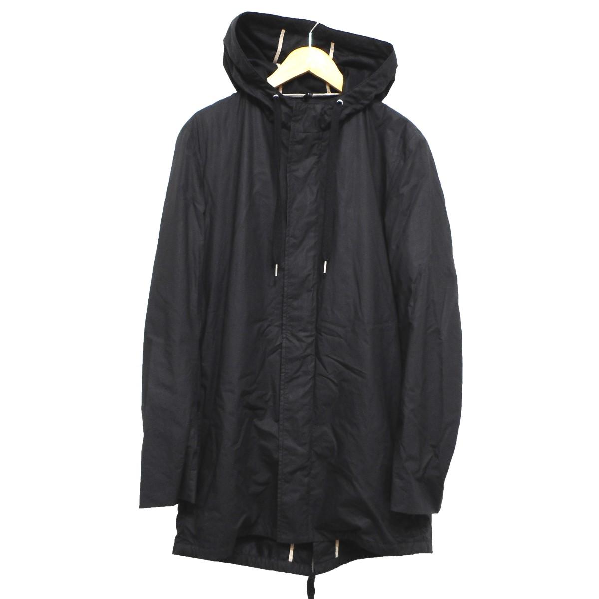 【中古】Dior Homme コーティングモッズコート ブラック サイズ:44 【250919】(ディオールオム)