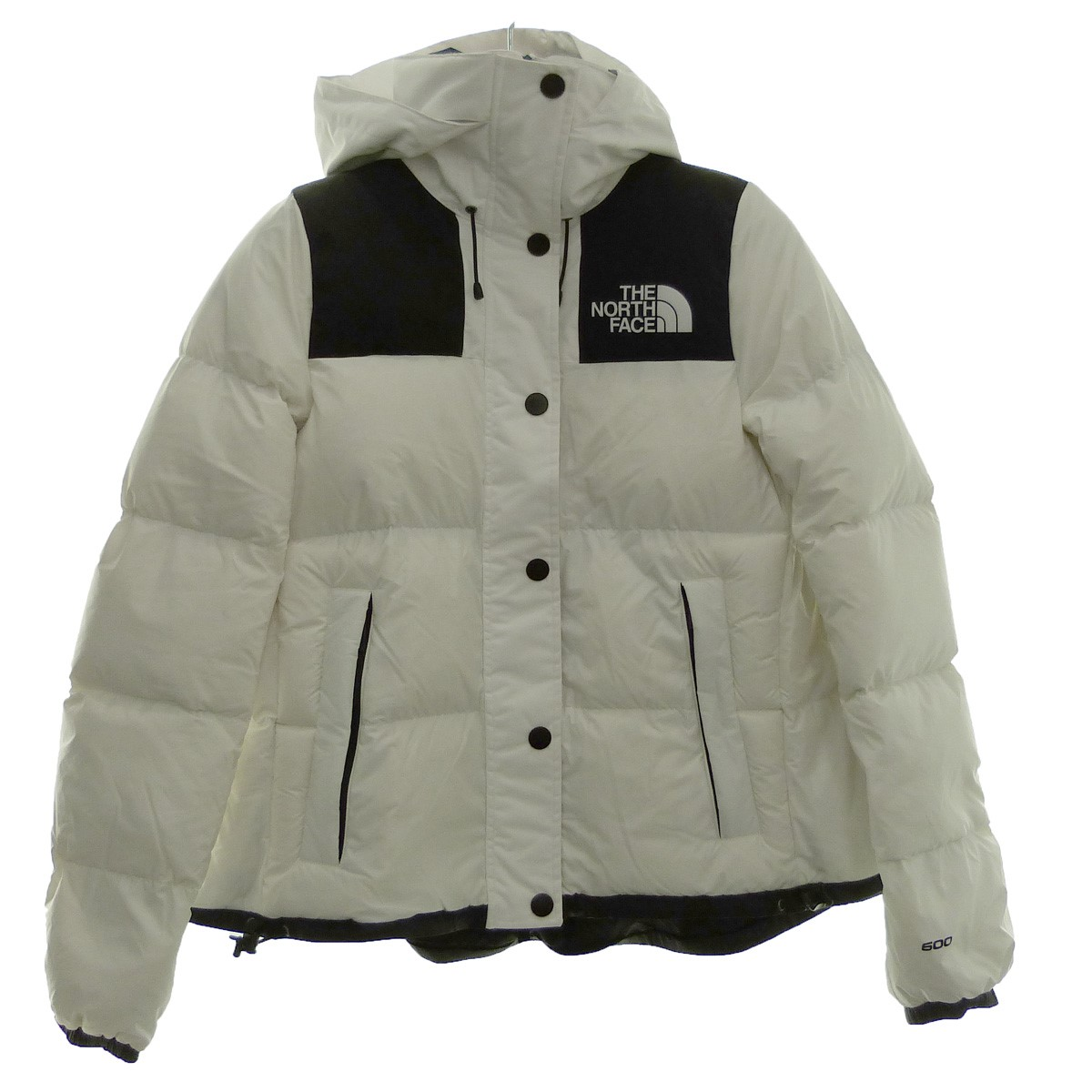 Sacai X THE NORTH FACE 17AW down jacket white X black size: S