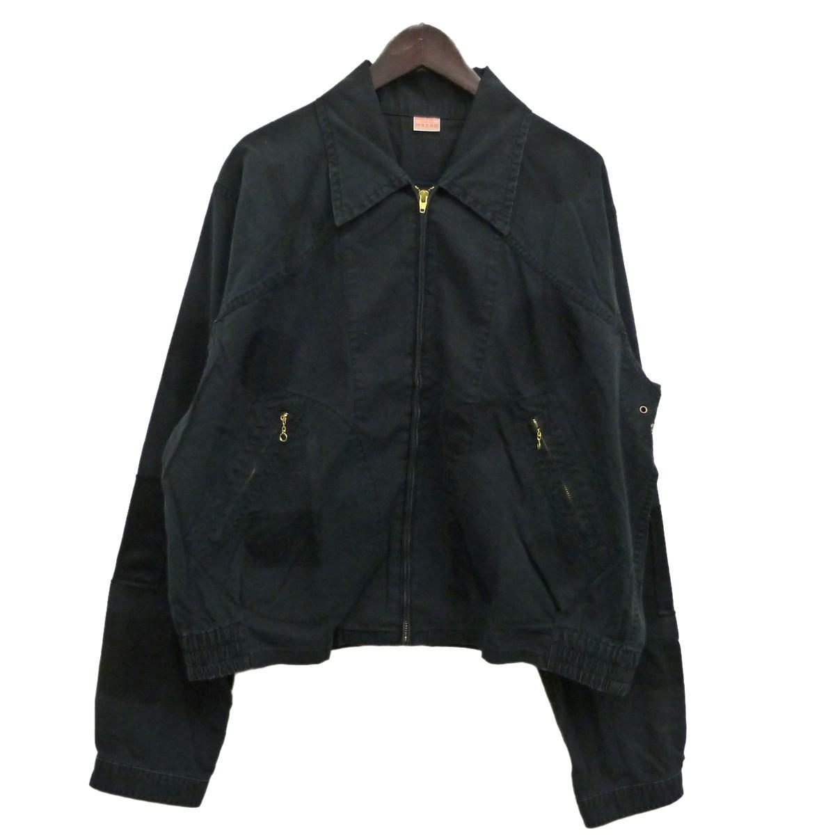 【中古】MAISON EUREKA19SS「BUEBERRY CLOTH WORK JACKET」ワークジャケット ブラック サイズ:L 【4月20日見直し】