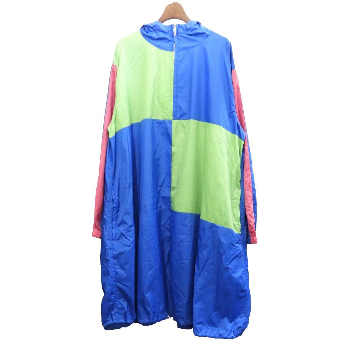 【中古】COMME des GARCONS SHIRT BOY2019SS ナイロンフーデッドコート ブルー サイズ:S【2月17日見直し】