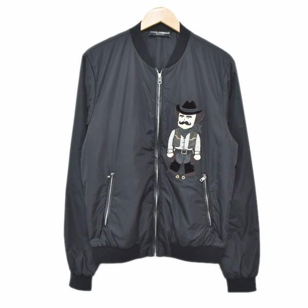 【中古】DOLCE&GABBANAボンバージャケット G9GX1Z ブラック サイズ:50 【4月23日見直し】