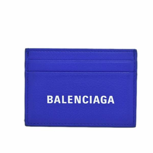 【中古】BALENCIAGA エブリデイ マルチカードホルダー カードケース ブルー 【280919】(バレンシアガ)