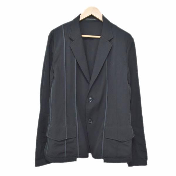【中古】YOHJI YAMAMOTO pour homme 16SS パイピング 表出し一重 ジャケット H0-J12-100 ブラック サイズ:2 【280919】(ヨウジヤマモト プールオム)