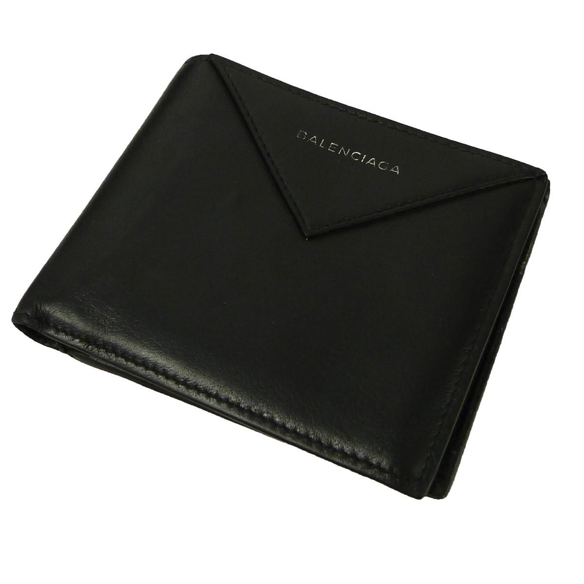 【中古】BALENCIAGA ペーパースクエアコインウォレット 2つ折り財布 ブラック サイズ:- 【280919】(バレンシアガ)