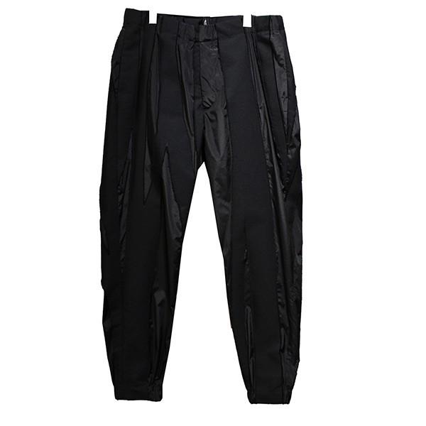【中古】ISSEY MIYAKE 2018AW 切替イージーパンツ パンツ ブラック サイズ:3 【011019】(イッセイミヤケ)