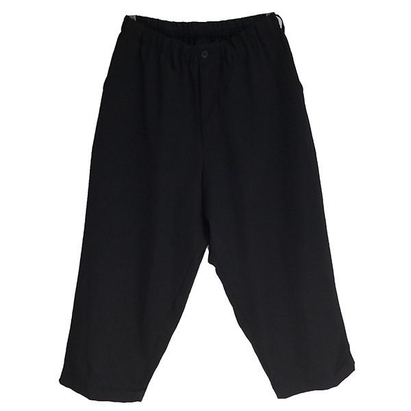 【中古】YOHJI YAMAMOTO pour homme 2019SS Flap Pocket Drawstring Pants ブラック サイズ:2 【011019】(ヨウジヤマモトプールオム)