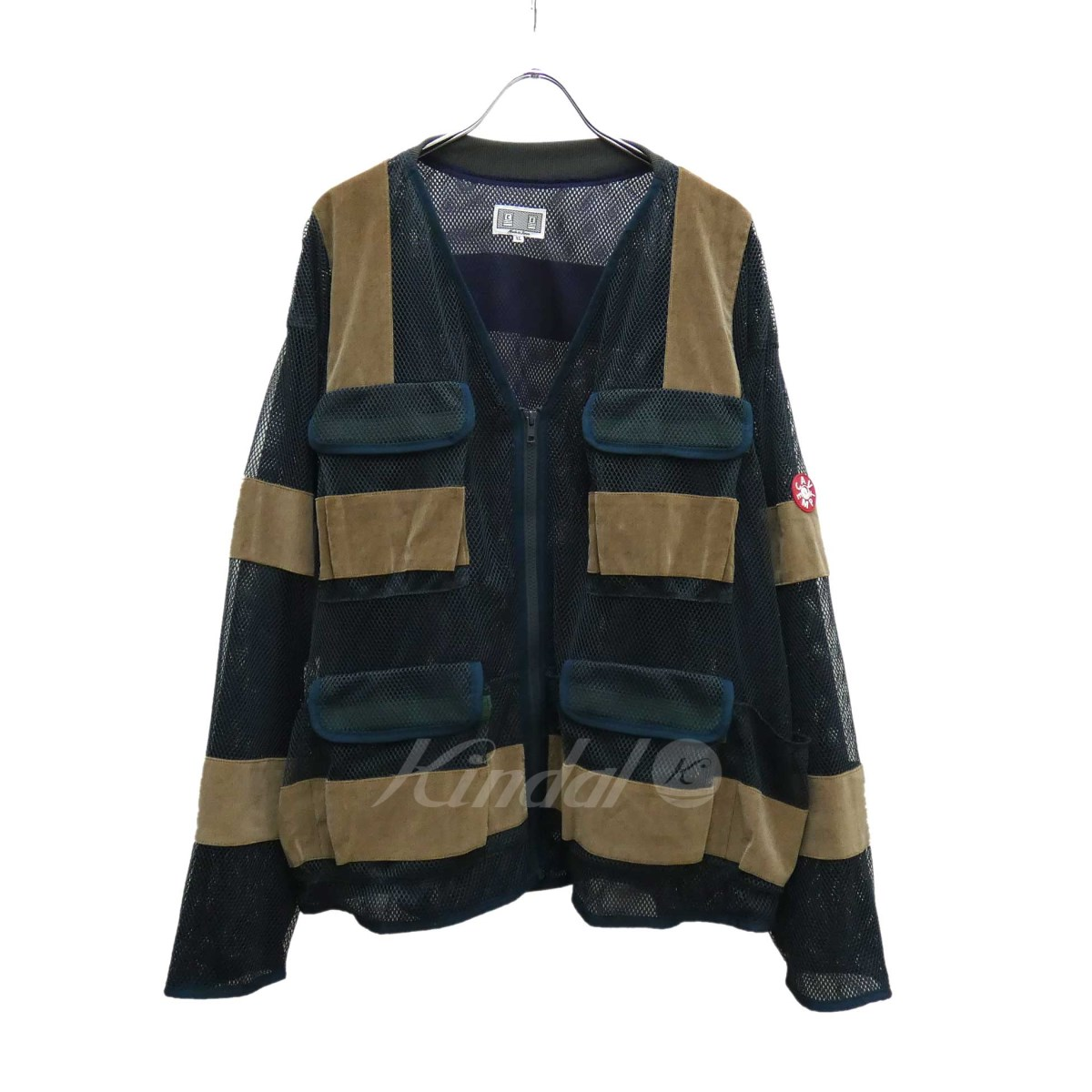 【中古】C.EMESH ZIP JACKET ジャケット 2019S/S グリーン×ベージュ サイズ:XL【2月17日見直し】