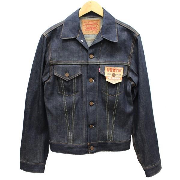 【12月12日 お値段見直しました】【中古】Levisデニムジャケット 70505-0217 バレンシア工場 1967年後期型2000年製 デットストック インディゴ サイズ:36(S)