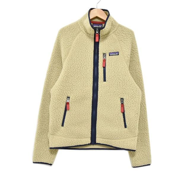 【中古】patagonia 18AW Retro Pile Fleece Jacket フリースジャケット 22800FA14 ベージュ サイズ:XS 【061019】(パタゴニア)