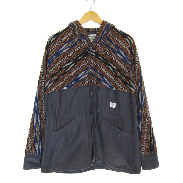 【中古】SASSAFRAS GARDENER CRUISER BUD JACKET 切替ジャケット ブルー サイズ:M 【061019】(ササフラス)