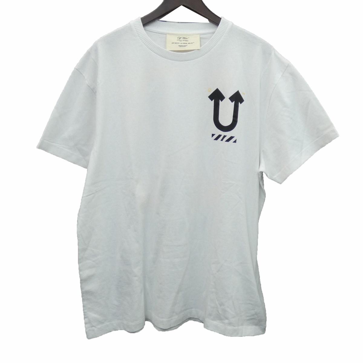 【中古】OFF WHITE × UNDER COVER 19AW「UC SKELETON DART S/S T-SHIRT」スカルアローロゴTシャツ 【196706】 【KIND1884】
