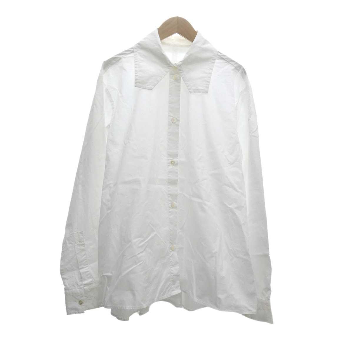 【中古】MM6 ワイドシャツ 2019SS ホワイト サイズ:40 【101019】(マルタンマルジェラ)