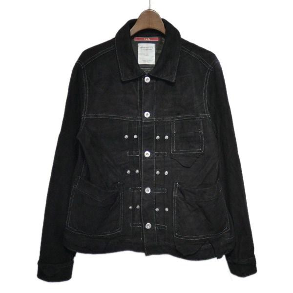 【中古】LEHスウェードジャケット ブラック サイズ:M【1月20日見直し】