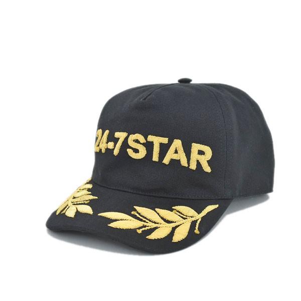 【中古】DSQUARED2 24-7 Star baseball cap ベースボールキャップ ブラック サイズ:L 【111019】(ディースクエアード)