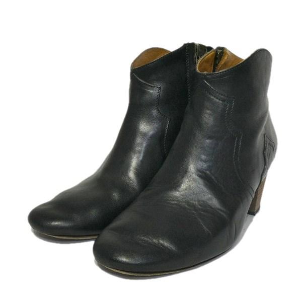 ISABEL MARANT サイドジップショートブーツ ブラック サイズ:37 【111019】(イザベルマラン):ブランド古着のカインドオル