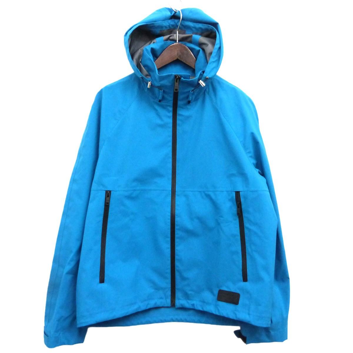 【中古】PRADA18SSウォータープルーフジャケット ブルー サイズ:48 【7月13日見直し】