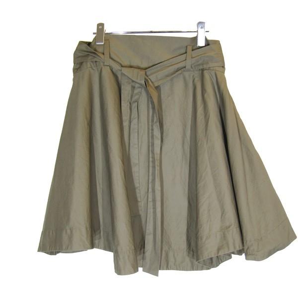 【中古】Vivienne Westwood RED LABEL2019AW コットンルーズウエストフレアスカート オリーブ サイズ:1