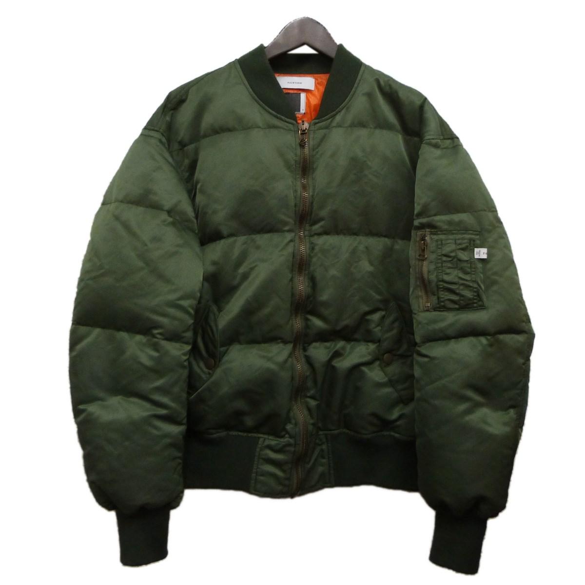 【中古】FACETASM MA-1ダウンジャケット カーキ サイズ:3 【131019】(ファセッタズム)