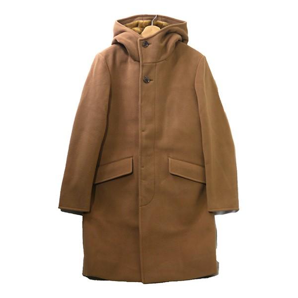 【中古】FACTOTUM2018AW Cashmere Pile Melton Long Food Coat コート キャメル サイズ:46 【4月6日見直し】