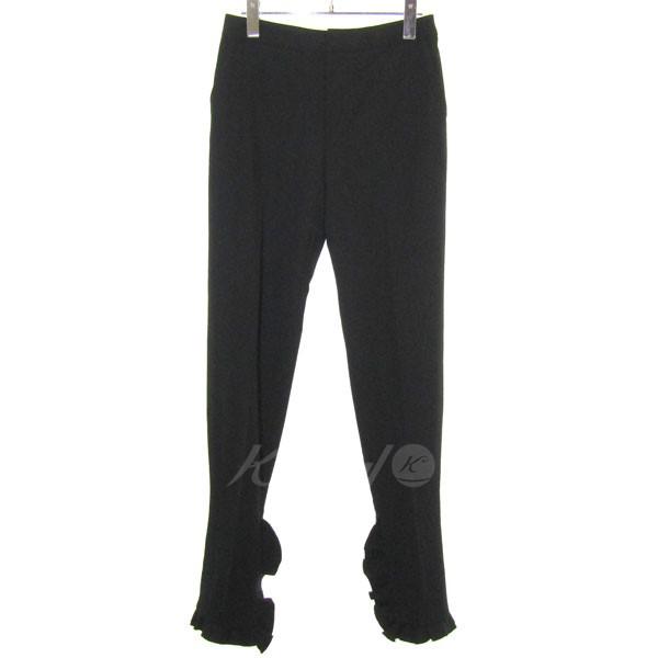 【中古】IRENE 2017S/S 裾フレア タックパンツ ブラック サイズ:36 【131019】(アイレネ)