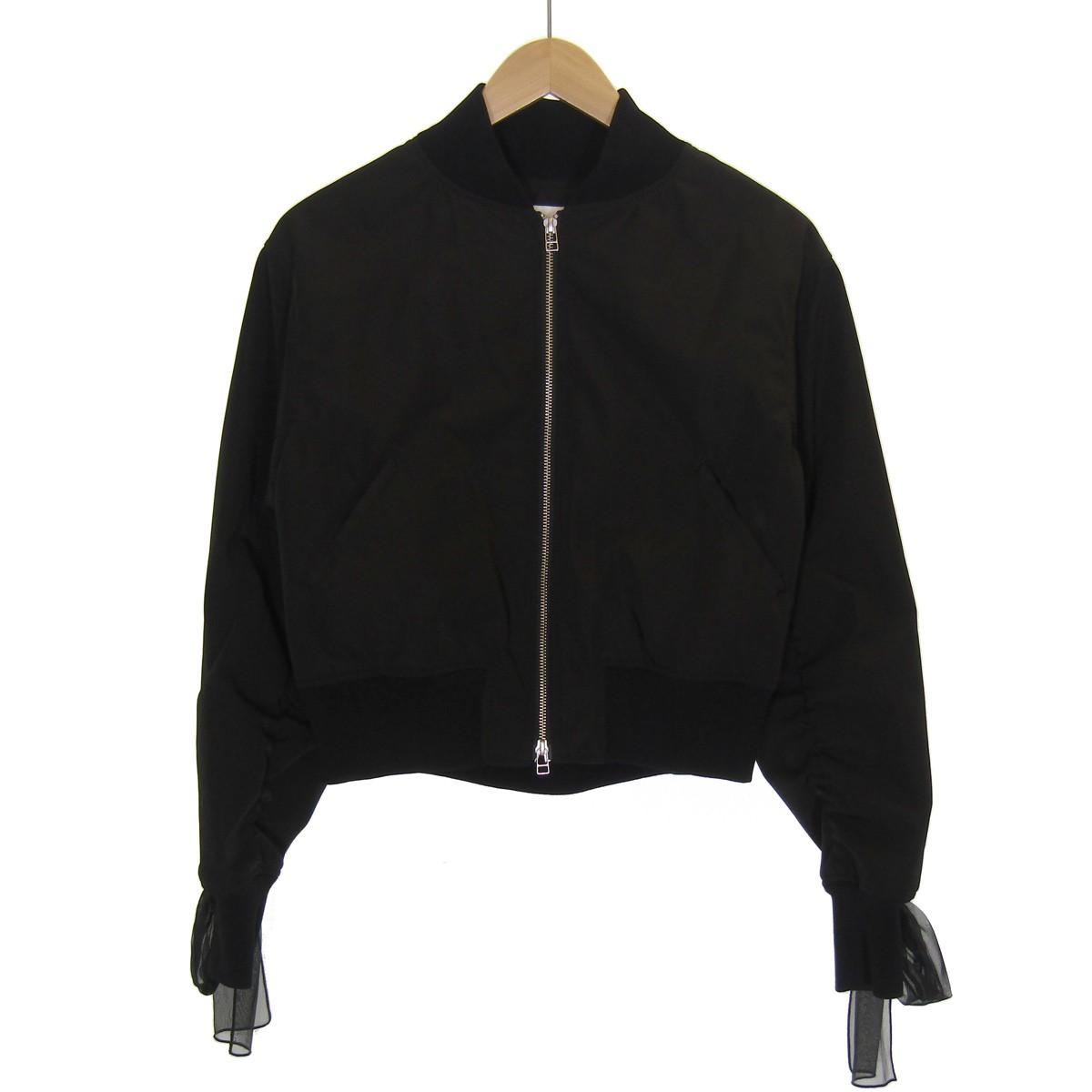 【中古】LE CIEL BLEU Sheer Whipstitch BZ ジャケット ブラック サイズ:38 【131019】(ルシェルブルー)