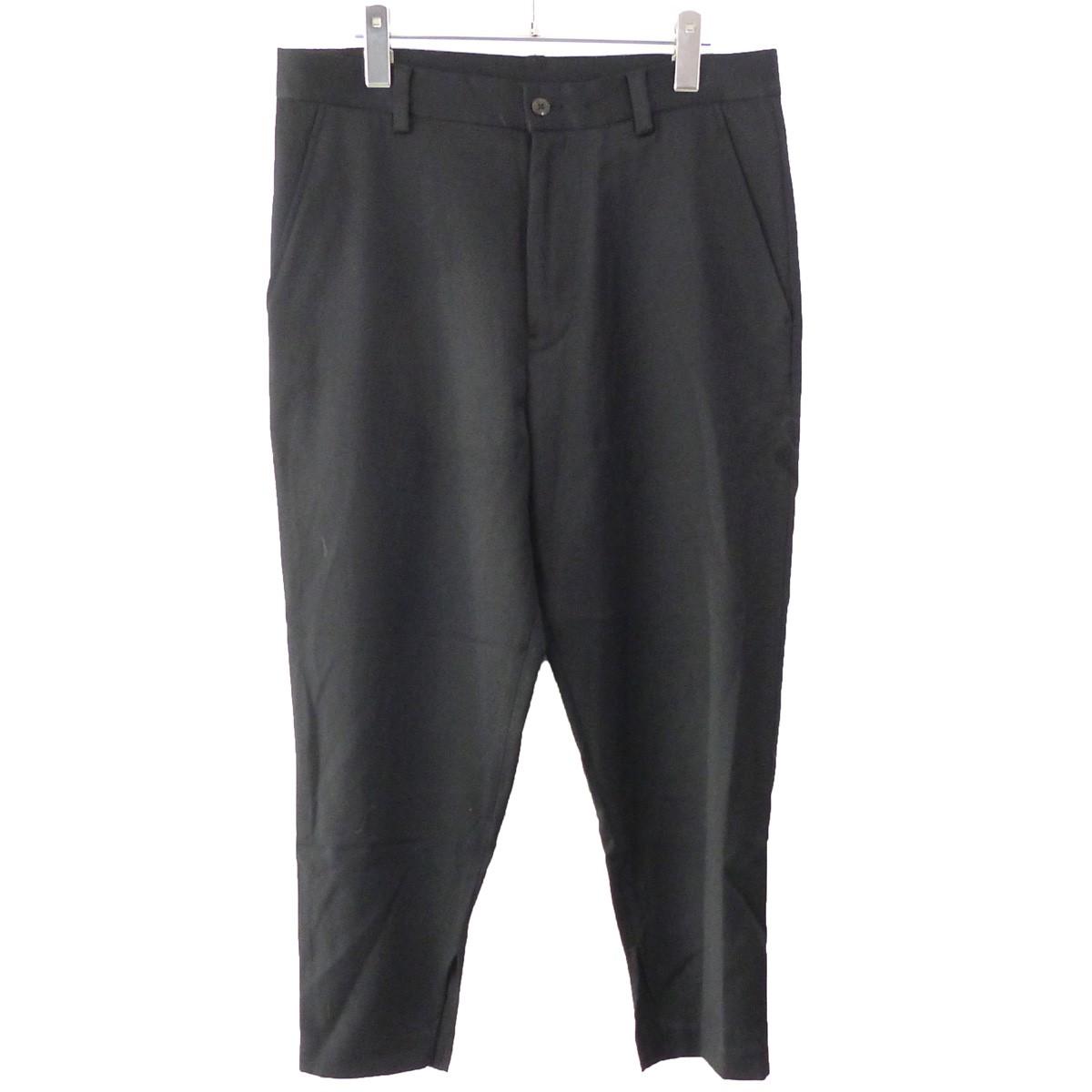 【中古】Sise 「CROPPED SLIT PANTS」クロップドスリムパンツ ブラック サイズ:2 【181019】(シセ)