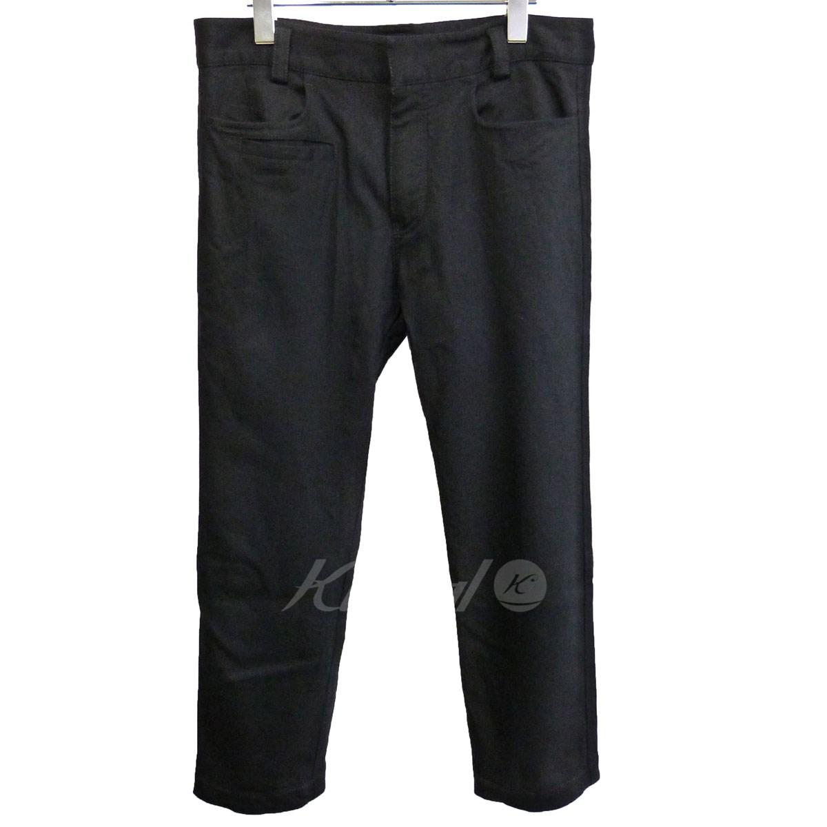 【中古】HAIDER ACKERMANNクロップドパンツ ブラック サイズ:S【3月9日見直し】