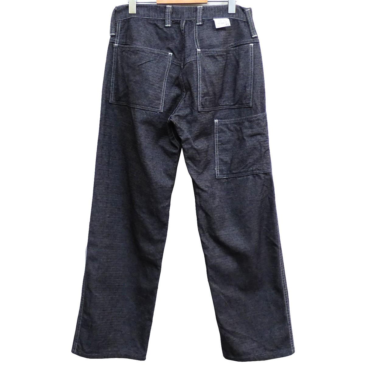 【中古】TENDER Co. TYPE132D Wide Pants With Driver's Pocketsヘリンボーンパンツ グレー サイズ:2(76cm) 【191019】(テンダー)
